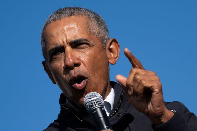 演説するオバマ前大統領
