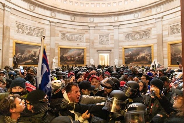 There were violent scenes as rioters breached security and entered the Capitol building in Washington