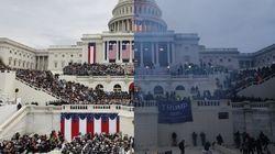 Ces deux photos du Capitole résument parfaitement la trajectoire de la présidence de