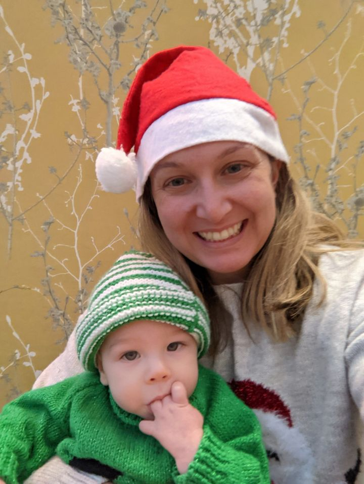Emily Smith and her son.