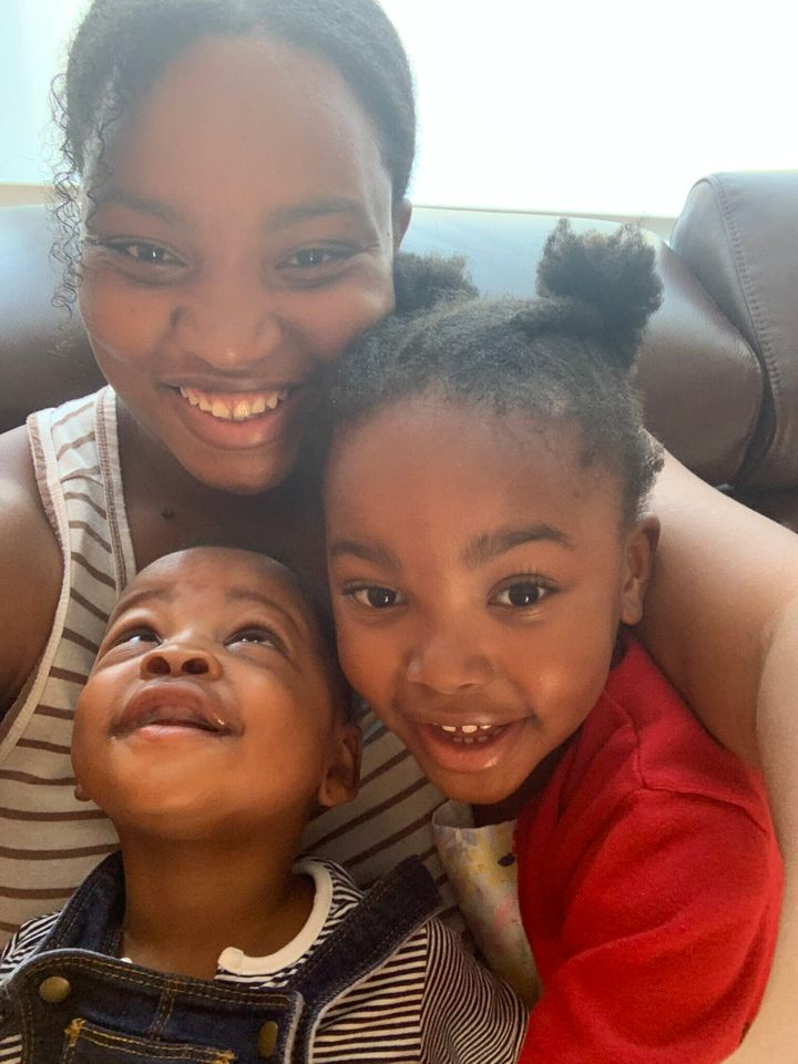 Nneka Opara and her children.