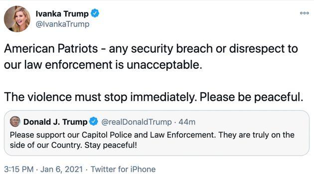 Ivanka Trump Calls Rioters 'American Patriots,' Then Deletes