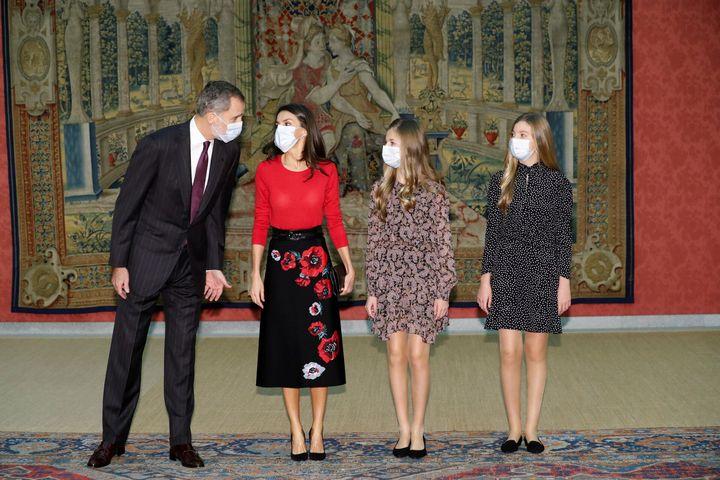 Leonor en la reunión delpatronato de la Fundación Princesa de Girona.