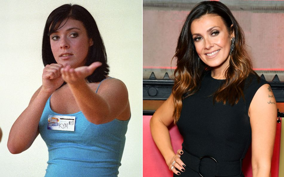 Kym Marsh pictured in 2001 and