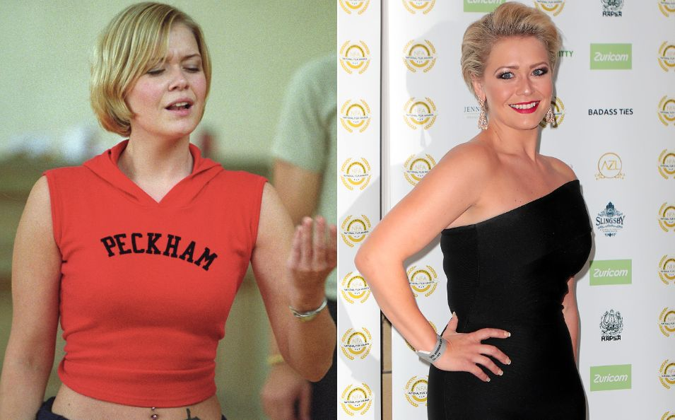Suzanne Shaw pictured in 2001 and