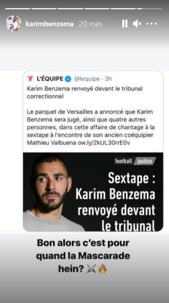 Affaire de la sextape: Karim Benzema sera jugé pour