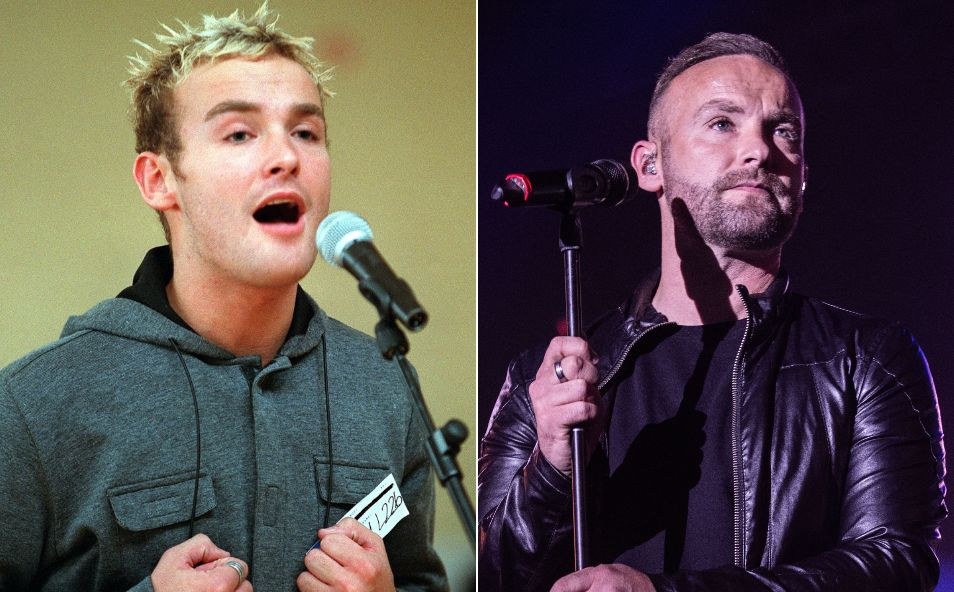 Kevin Simm pictured in 2001 and