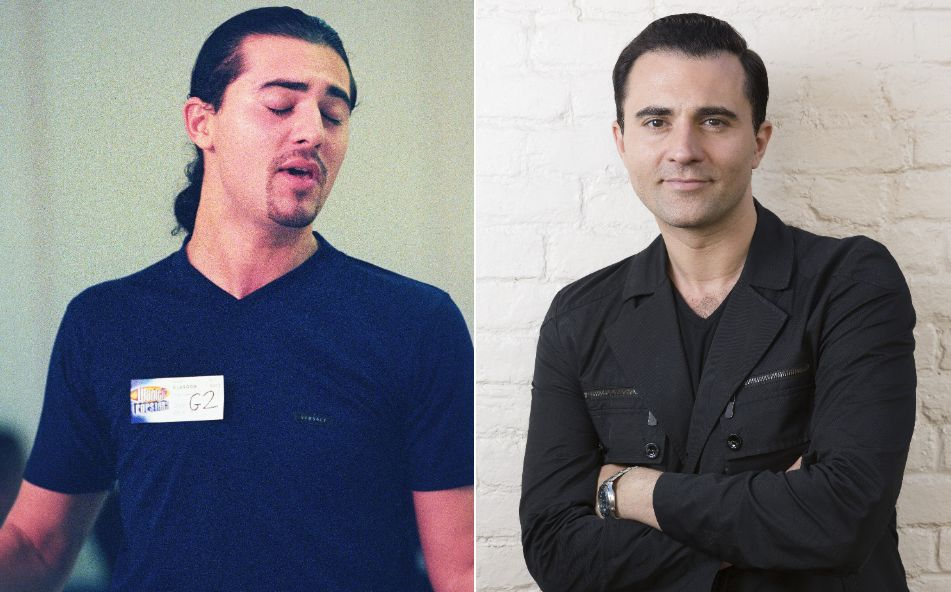 Darius Campbell pictured in 2001 and