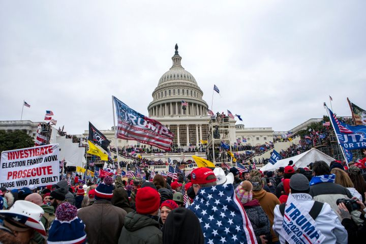 Trump supporters rally at the U.S. Capitol on Jan. 6.