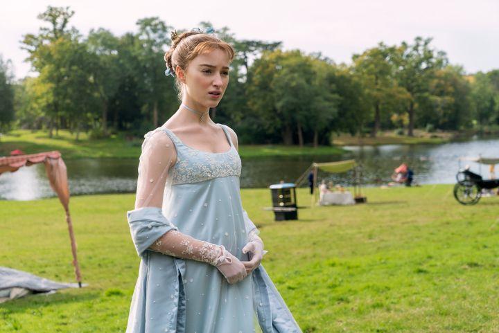 "Empire line dresses are in high demand since the premiere of Netflix's ""Bridgerton."""