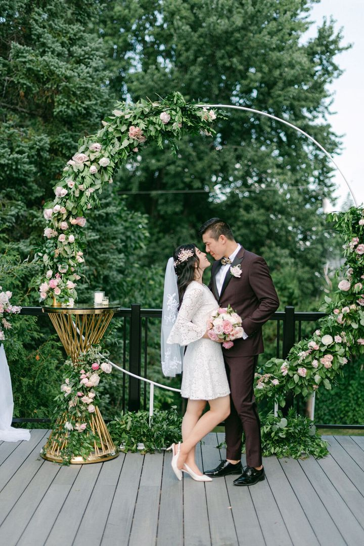 """They said their """"I do's"""" attheir home in Ottawa, Canada."""