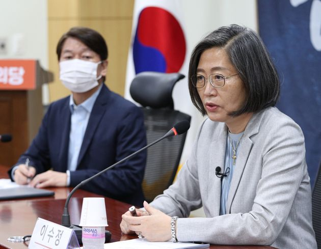 국민의당 강연하는 이수정