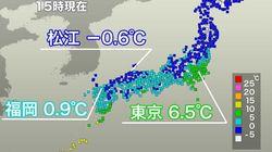 全国的に厳しい寒さ あす1月9日は東京でも氷点下に