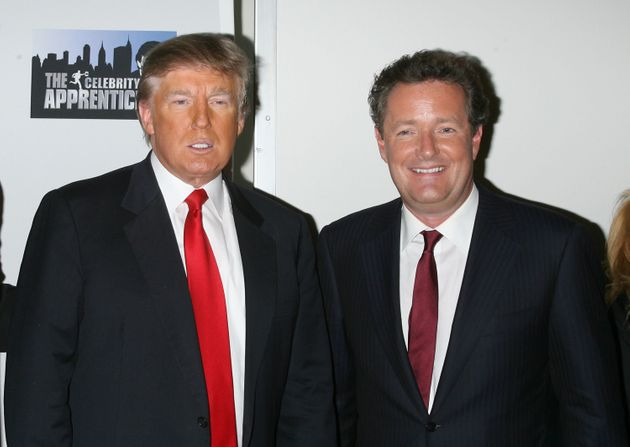 Piers appeared opposite Trump on The Apprentice in the US in