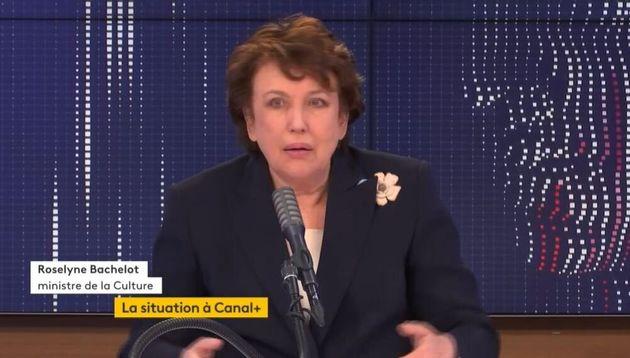 Roselyne Bachelot évoque la situation à Canal+ dans la matinale de France Info, le vendredi 8 janvier