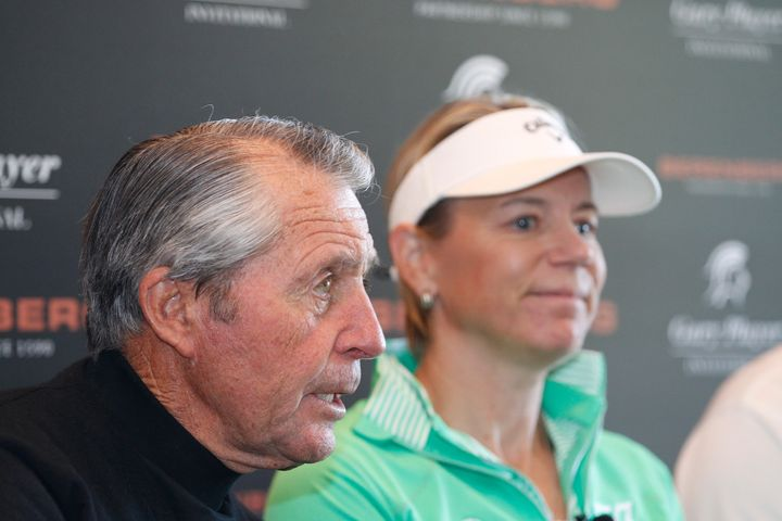 Gary Player and Annika Sorenstam at a golf tournament in 2015.