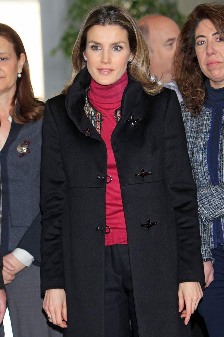 La princesa de Asturias, en el Centro Integrado de Formación Profesional de Energías Renovables el 7 de marzo de 2012.