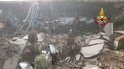 El aparcamiento de un hospital italiano se derrumba y se traga varios