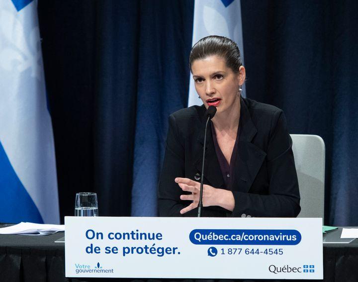 La ministre de la Sécurité publique, Geneviève Guilbault.