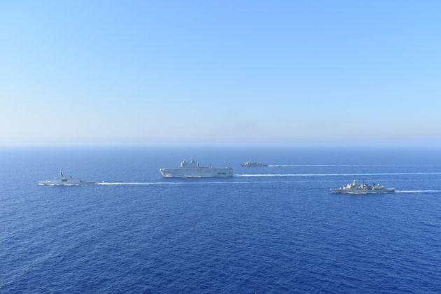 Αύγουστος 2020 Ναυτική άσκηση Ελλάδας - Γαλλίας στην Ανατολική