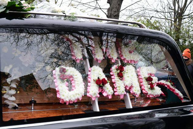 The funeral cortege of Dame Barbara Windsor arrives at Golders Green Crematorium, north London, ahead...