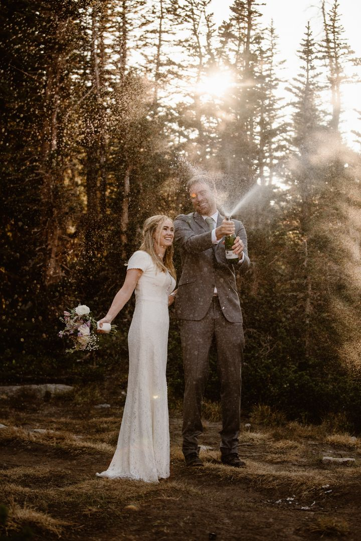 The adventurous duo wanted to elope against a scenic backdrop.
