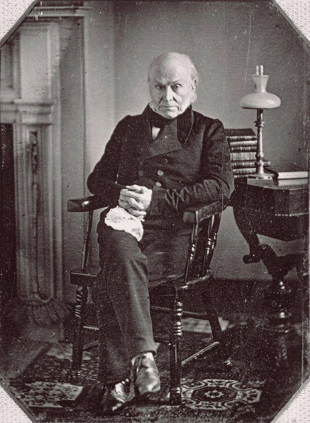 Cette photo de John Quincy Adams fut la première d'un président américain. (Daguerreotype...