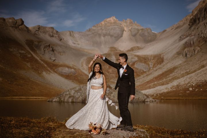 The couple was planning a larger wedding, but ultimately appreciated the intimacy that an elopement allows.