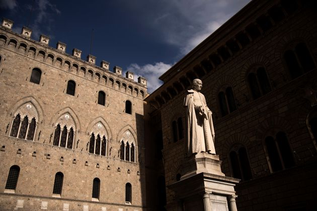 The statue of Italian 18th Century archdeacon, economist, and politician, Sallustio Bandini is pictured...