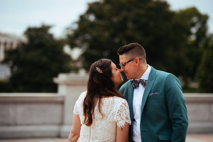 The two said the decision to cancel their original wedding was difficult but ultimately the right choice.