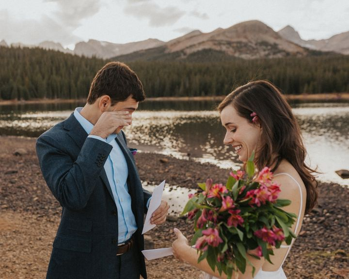 They exchanged vows outside Boulder, Colorado, in October.