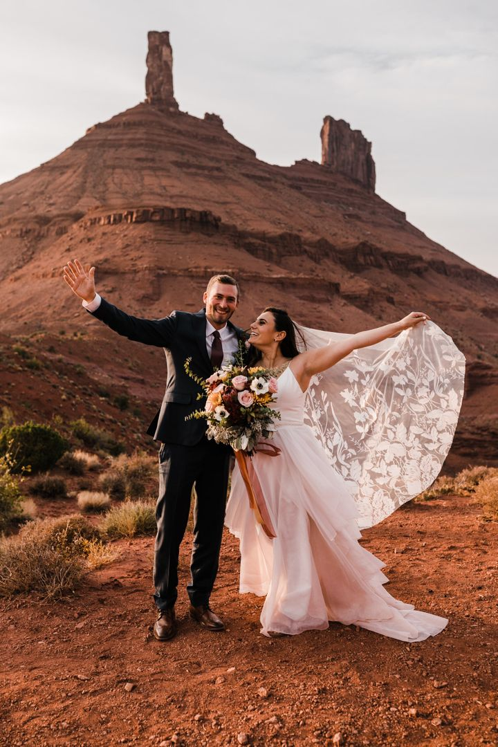 The two eloped in Moab, Utah, with just a few family members present.
