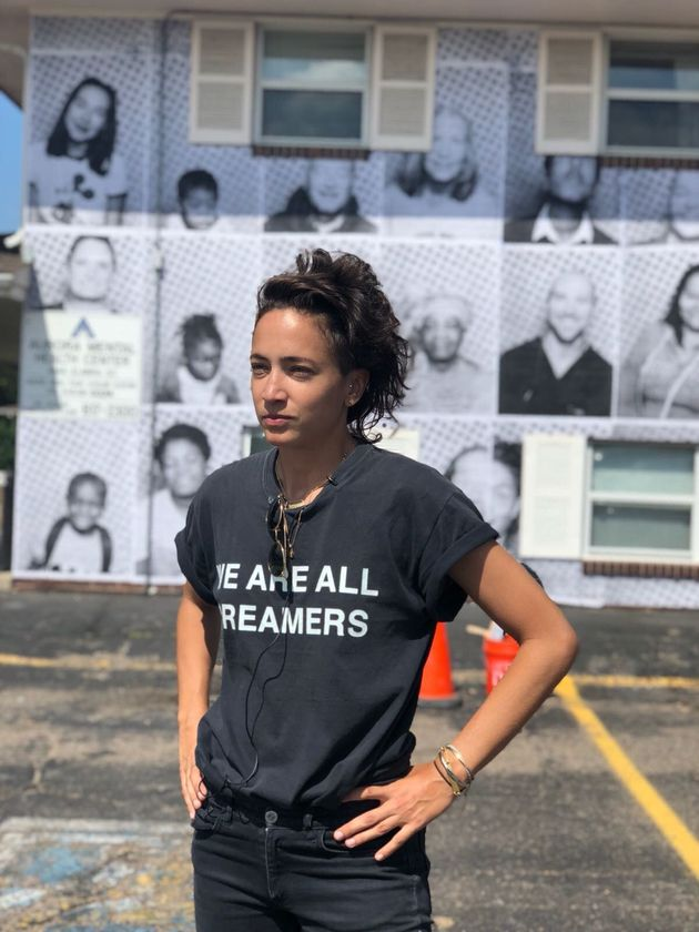 Paola Ramos, durante el viaje que realizó para escribir