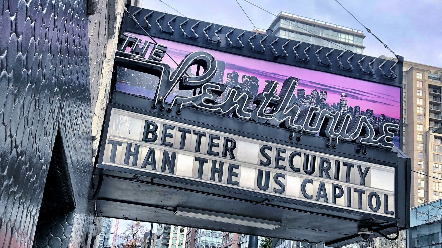 Vancouver Strip Club Can't Resist A Dig At U.S. Capitol Security
