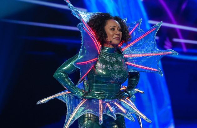 Mel B after taking off her Seahorse disguise on The Masked