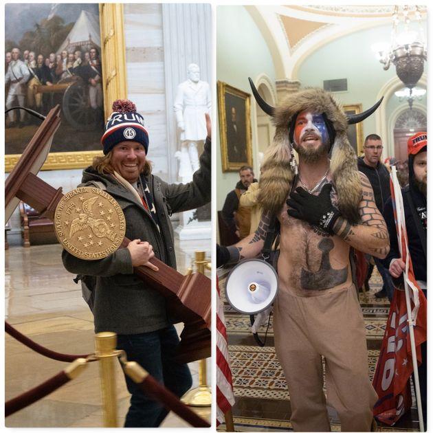 Adam Christian Johnson e Jack Angeli, Insurrezionisti a Capitol Hill