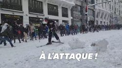 Des batailles de boule de neige géantes éclatent en plein