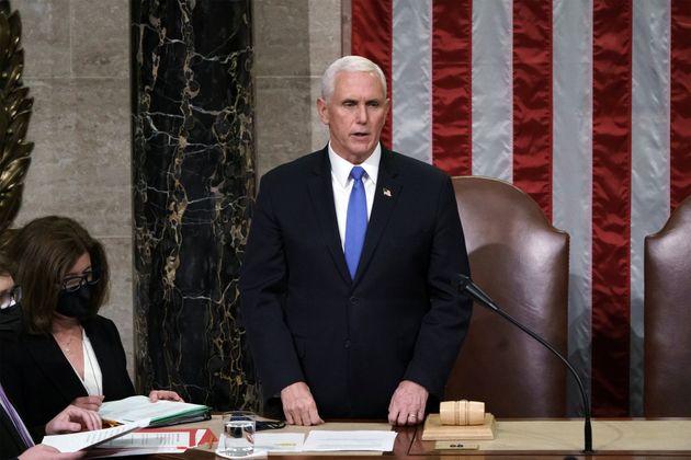 Le Vice-Président Mike Pence, ici le 7 janvier 2021 au Capitole de