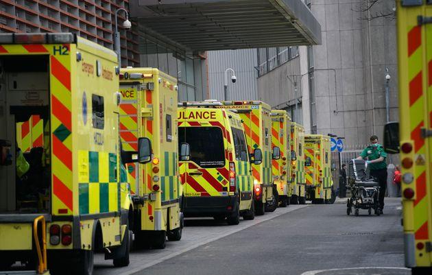 Ambulances outside the Royal London Hospital, after Mayor of London Sadiq Khan declared a