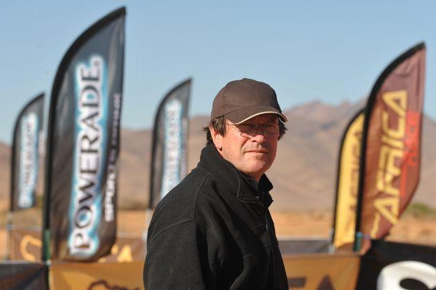 Hubert Auriol, photographié ici 2009 lors de la première édition de l'Africa Race,...