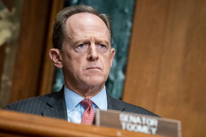 "Sen. Pat Toomey called on President Donald Trump to resign on Sunday, saying his recent behavior shows that he has ""spiraled"