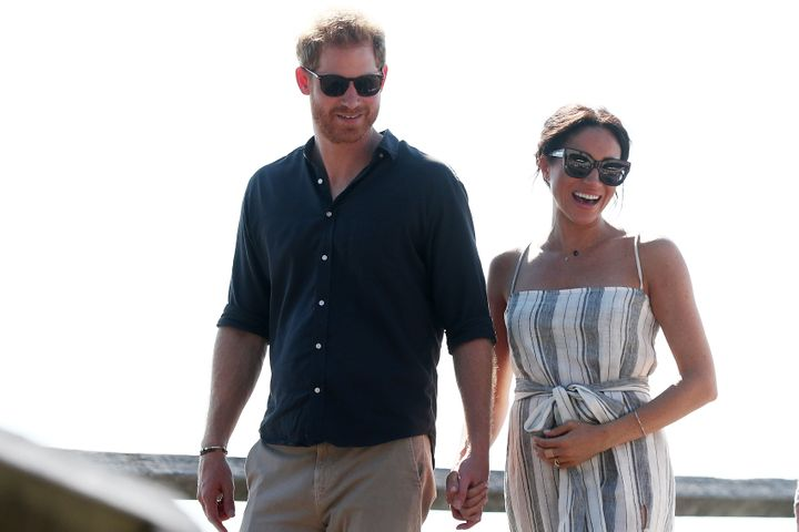 Prince Harry, Duke of Sussex and Meghan, Duchess of Sussex in Fraser Island, Australia on Oct. 22, 2018.