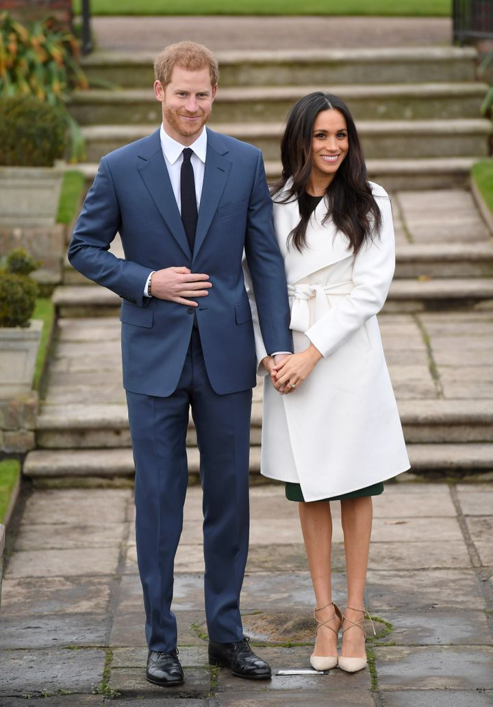 Harry and Meghan when they announced their engagement on Nov. 27, 2017. At this point, Harry had already issued a statement calling out racist, sexist and predatory coverage of his partner.