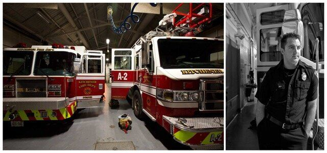 A photo in the 5 a.m. project: Jan - Firefighter - Fire Station 2.