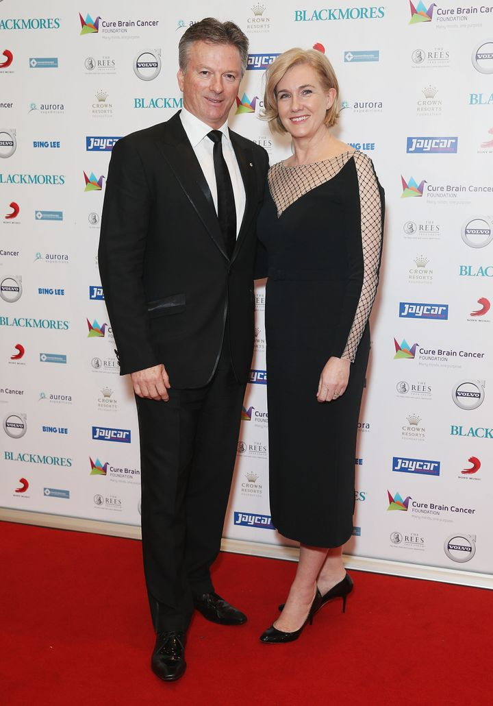 Steve and Lynette Waugh attend the Cure Brain Cancer Foundation 1930s Hollywood Glamour Ball at the Hordern Pavillion on May 2, 2015 in Sydney, Australia.