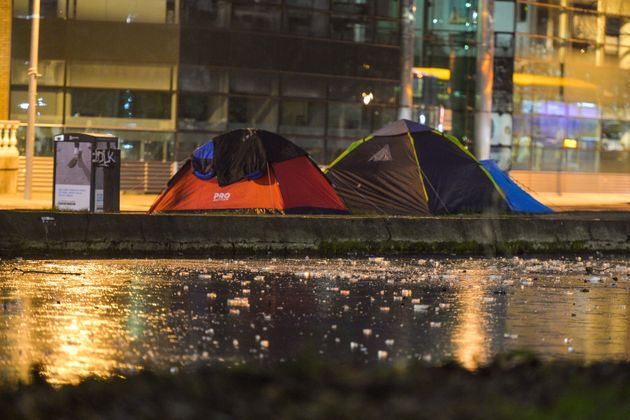 """West Midlands Police has faced criticism for """"targeting"""" homeless people who are outdoors..."""