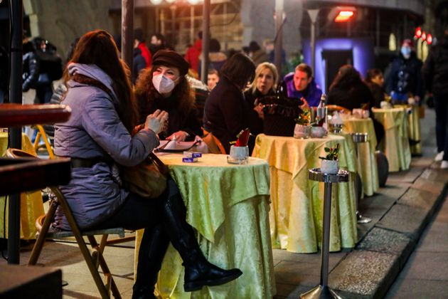 People during Christmas shopping in the first day of Lombardy in yellow zone During The Covid-19 Pandemic,...