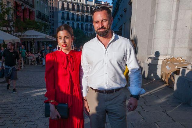 Santiago Abascal y Lidia Bedman, en enero de