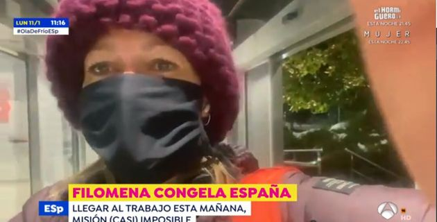 Susanna Griso a su llegada a Antena