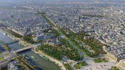 Champs-Elysées come un immenso giardino: come sarà Parigi con le Olimpiadi 2024